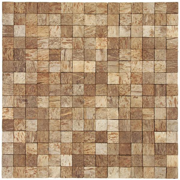 Mosaico casca de coco acetinado eccos angra 30x30cm for Mosaico leroy merlin