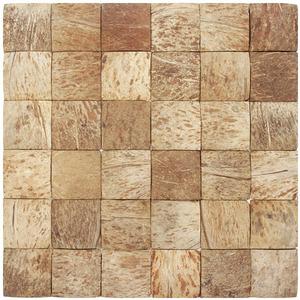 Mosaico Casca de Coco Acetinado Eccos Sauipe 30x33cm Colormix