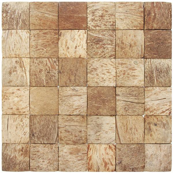 Mosaico casca de coco acetinado eccos sauipe 30x33cm - Mosaico leroy merlin ...