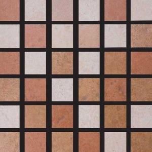 Mosaico cer mica acetinado marrom bege e branca 8789 for Mosaico leroy merlin