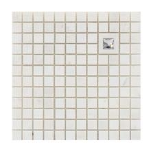 Mosaico Mármore com Swarovski Piguês MPC 25571 30x30cm Tessela