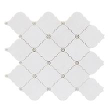 Mosaico Mármore com Swarovski Thassos MPC82189 30x30cm Tessela