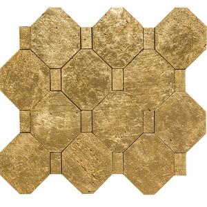 Mosaico Mármore Folheado a Ouro MOAU22K 30x30cm Tessela