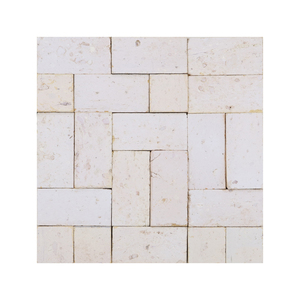 Mosaico Formas Branco Natural 27x27cm Artens