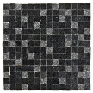 Mosaico Granito Acetinado Gabriel Dustin 28x28cm Trento Marmi