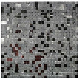 Mosaico m rmore acetinado e brilhante preta black tumb - Mosaico leroy merlin ...