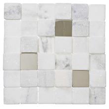 Mosaico Mármore Acetinado 28x28cm Trento Marmi