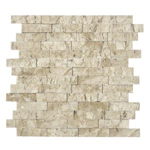 Mosaico m rmore bege canjiquinha travertino 28x28cm artens for Leroy merlin mosaico decorativo
