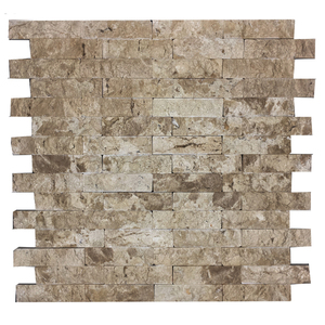 Mosaico m rmore bege travertino 28x28cm trento marmi for Pisos de travertino rustico