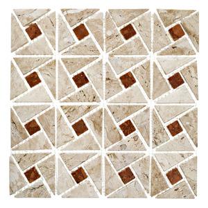 Mosaico Mármore Acetinado Betina 28x28cm Trento Marmi