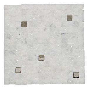 Mosaico Mármore Acetinado Bianca 28x28cm Trento Marmi