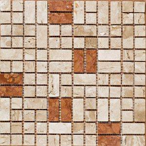 Mosaico Mármore Acetinado Cecille 28x28cm Trento Marmi