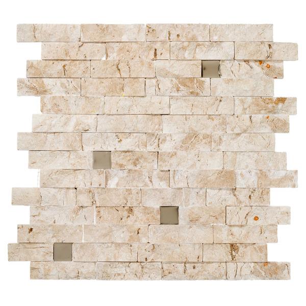 Mosaico m rmore acetinado clair tv canjiquinha 28x28cm - Mosaico leroy merlin ...