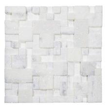 Mosaico Mármore Brilhante e Acetinado Coralia 28x28cm Trento Marmi