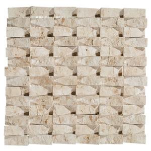 Mosaico m rmore acetinado cunha spacato 28x28cm trento for Mosaico leroy merlin