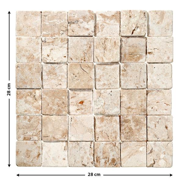 Mosaico m rmore acetinado gayla 28x28cm trento marmi - Mosaico leroy merlin ...