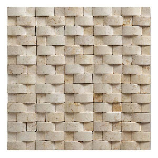 Mosaico pedra acetinado bege gt57 relevo natus 30x30cm for Mosaico leroy merlin