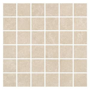 Mosaico Porcelanato Fosco Liso Mamore Crema 30X30 Portobello
