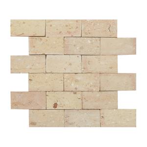 Mosaico Tijolo Branco Natural 31,5x27cm