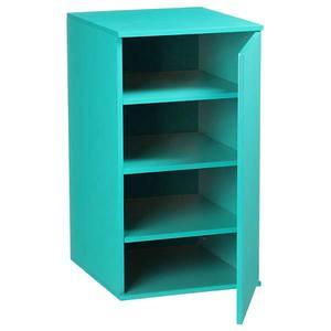Móvel de Apoio Fit Color Azul com Porta  35x38,5x65cm