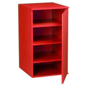 Móvel de Apoio Fit Color Vermelho com Porta  35x38,5x65cm