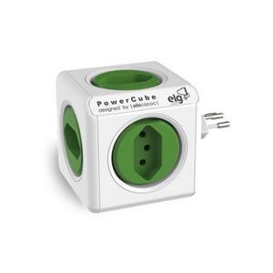 Multiplicador PowerCube Branco e Verde ELG