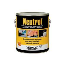 Neutrol Líquido Viscoso Preto Densidade 0,9 G/CM³ Tinta Asfáltica para Concreto Alvenaria Metal Madeira Balde 3,6L
