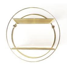 Nicho 30x30x12cm Metal Dourado Redondo Line Comfort Zone Utilfer