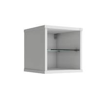 Nicho Quadrado 31x31x31cm Branco Glass P&C