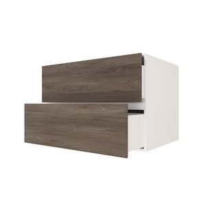 Nicho com Gaveta Retangular Branco/Nogal 60x40x40cm Infinity Spaceo