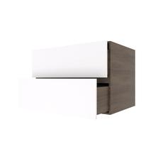 Nicho com Gaveta Retangular Nogal/Branco 60x40x40cm Infinity Spaceo