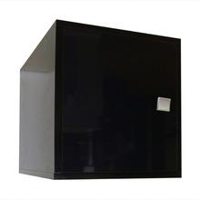 Nicho com Porta Cubo MDP Preto 36x33x35 cm BE BRV