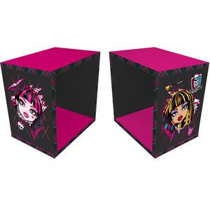 Nicho Cubo MDF Pink e Preto 22x30 Monster High Prat K