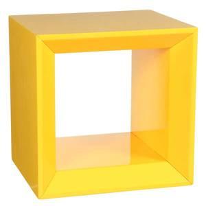 Nicho Cubo Multiforma Aberto Amarelo 30x30x25cm Montfácil