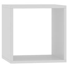 Nicho Cubo Quadrado Madeira Branco 34x34cm Cube Luciane
