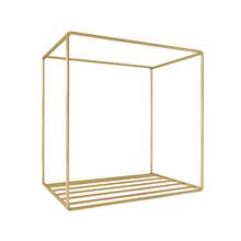 Nicho Industrial Dourado 30x30x20cm Comfort Zamar
