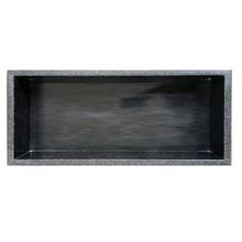 Nicho Marmore Branco 30x60cm Preto sem Fundo com Borda 4cm