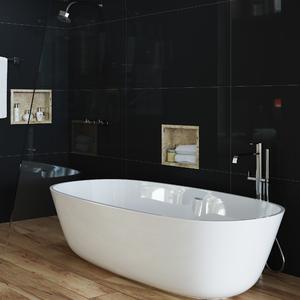 Nicho para Banheiro Travertino Real 31,5x41,5x12cm Artens