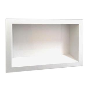 Nicho para Box Mármore Branco Prime Pedras Feital