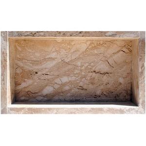 Nicho para Box Mármore Travertino Pedras Feital
