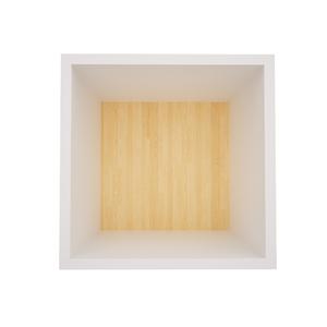 Nicho Quadrado Madeira Branco 30x30x19cm Wood Muve