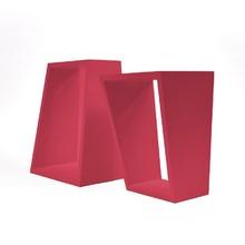 Nicho Retângular Ângular 2 Unidades 39x30x19cm Vermelho MUVE