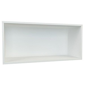 Nicho ret ngular madeira branco 35x70x30cm prime spaceo - Prime eco energie leroy merlin ...