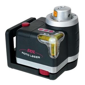 Nível Laser Rotativo com 2 Bolhas 360º 635 NM Precisão +- 21 MM Alcance 30 m Duas Pilhas AA 1W com Tripé Skil