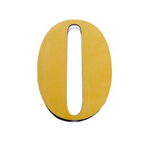 "Número ""0"" 14,5cm Acrílico Ouro Kami Acrílicos"