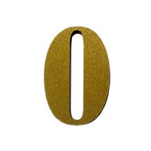 "Número ""0"" 4cm Acrílico Ouro Kami Acrílicos"