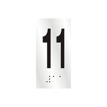 "Número ""11"" 7cm Alumínio Prata Sinalize"