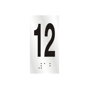 "Número ""12"" 7cm Alumínio Prata Sinalize"
