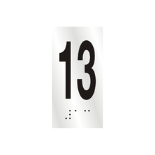"Número ""13"" 7cm Alumínio Prata Sinalize"