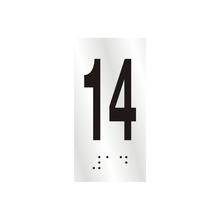 "Número ""14"" 7cm Alumínio Prata Sinalize"